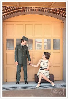 e-session inspiration | vintage train station engagement session, 1940's themed, military, @Kristin :: Teal White Garden :: Teal White Garden Vining Photography Charlotte, NC Wedding Photographer