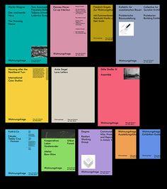 Die Gesamtausgabe von Wohnungsfrage umfasst folgende Titel / The complete edition of the Wohnungsfrage publication series