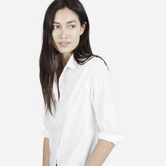 The Poplin Long Sleeve - White - Everlane