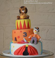 Gâteau cirque / circus cake