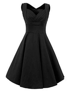 Vianla Women's 1950s V Neck Vintage Cut Out Casual Party Cocktail Dresses Black M Vianla http://www.amazon.com/dp/B0169OFOH4/ref=cm_sw_r_pi_dp_g7Lhwb1H1DXSN
