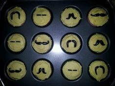 Moustache cupcakes - They were a big hit with the guys!