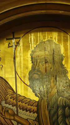 The icon of St. John the Baptist inside of Assumption Greek Orthodox Church in Homer Glen has been dripping fragrant oil since July, parishioners said. (Jose M. Chicago Area, John The Baptist, Chicago Tribune, Roman Catholic, Daily News, Flocking, Alexandria, Homer Glen, Old Things