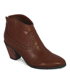 Another great find on #zulily! Brown Elton Ankle Boot #zulilyfinds
