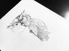 Process #sketch #owl