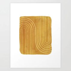 Buy Rust mustard lines Art Print by whalesway. Worldwide shipping available at Society6.com. Just one of millions of high quality products available. Orange Home Decor, Orange House, Burnt Orange Color, From The Ground Up, Buy Frames, House Colors, Printing Process, Line Art, Rust