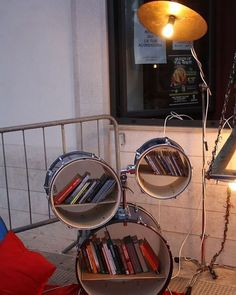 Drummer's Reading Nook  Complete with a cymbal light #drum #drums #drumming #groovru #drummer #drumming #music #drummers #drumlife #daytimenightlife #drumstick #drumsticks #cymbal #music #drumline #drumcorps #drumset #cymbals #drummers_corner #drummersclub #drumsoutlet #drumporn #moderndrummer #drummingco #drummerdotcom #drumheadspod #drumscripts by groovru