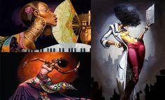 Art Lover Dream: Dipinti sorprendenti, donna di colore e illustrazioni di Frank Morrison.