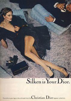 Dior Ad 1977, photo by Chris von Wangenheim, model: Lena Kansbod - male model could be Rob Yoh