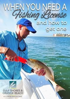 Find Out When You Need a Fishing License, How to Get One Usa Fishing, Winter Fishing, Trout Fishing Tips, Charter Boat, Adventure Gear, Fishing Charters, Orange Beach, Most Beautiful Beaches, Saltwater Fishing