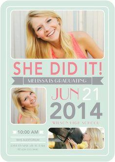 Triumphant Shout - Graduation Invitations - Magnolia Press - Aloe Green #graduation