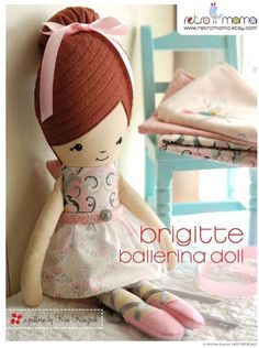 retro mama: Ballerina Doll Sewing Pattern