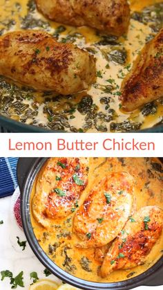Crock Pot Lemon Garlic Butter Chicken - - Easy and delicious crock pot chicken dinner recipe with outstanding flavor! chicken in crock pot, chicken crockpot recipe, slow cooker chicken recipe, chicken in - This by Butter Chicken Rezept, Lemon Butter Chicken, Butter Sauce For Chicken, Lemon And Garlic Chicken, Easy Sauce For Chicken, Chicken White Sauce, Ways To Cook Chicken, Greek Lemon Chicken, Lemon Butter Sauce