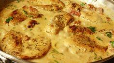 Mustáros tejfölös csirke – tényleg csábító kis étel!