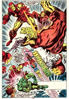 """The Invincible Iron Man #106 (January 1977) """"LAST STAND AT STARK INTERNATIONAL!""""  Art by George Tuska and Mike Esposito"""
