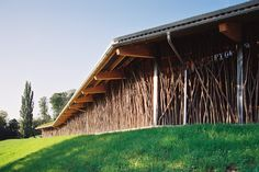 Completed in 2005 in Basel, Switzerland. Images by Christian Baur - Serge Hasenböhler. The cow barn is located in the vicinity of Basel on the foothills of the Jura. As the farm needed a new orientation the decision fell on the increase...