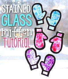 Kinder-Craze: A Kindergarten Teaching Blog: Stained Glass Mitten Window Decor Tutorial