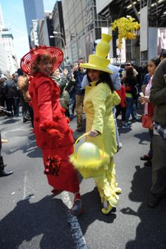 These ladies certainly showed their best colors at the annual Easter Parade on Fifth Avenue on April 20, 2014.