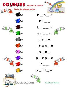 Printable Alphabet Assessment | Colours picture test 3 worksheet - Free ESL printable worksheets made ...