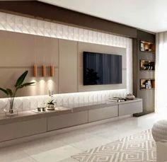 Home Room Design, Bathroom Interior Design, Interior Design Living Room, Design Interiors, Modern Interior, Painel Tv Sala Grande, Home Decor Furniture, Furniture Design, Chair Design