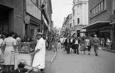 El agitado centru de la ciudad (Zona Lipscani) 1956