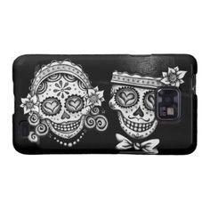 Sugar Skulls Couple Samsung Galaxy S2 Phone Case Samsung Galaxy S2 Covers