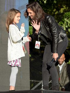 Proof That Katie Holmes & Suri Have the Cutest Mother-Daughter Dates Ever | THEY TAKE THE STAGE AT CONCERTS | Leave it to these two to up the mother-daughter date ante. Katie and Suri joined the star-studded crew that included First Lady Michelle Obama, Beyoncé and Kerry Washington at the Global Citizen Festival in N.Y.C., where they waved to the Central Park crowd from on stage before Suri watched Mom speak.