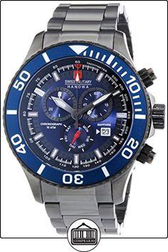 Swiss Military Hanowa 6-5226.30.003 - Reloj de cuarzo para hombre, correa de acero inoxidable chapado color negro de  ✿ Relojes para hombre - (Gama media/alta) ✿
