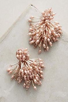 Beaded Burst Earrings - anthropologie.com