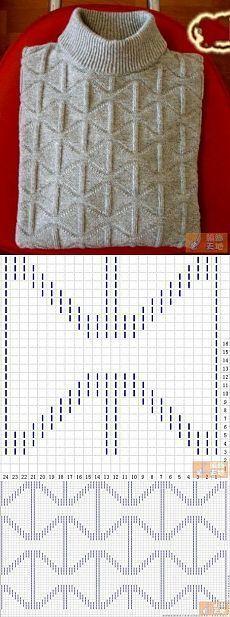 Мужской свитер спицами. [] #<br/> # #Crossword,<br/> # #Stitches,<br/> # #Of #Agujas,<br/> # #Knitting,<br/> # #Points,<br/> # #Tissue<br/>