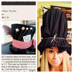 Mad Hatter costume creates a #pinterestfail