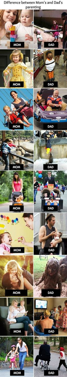 Moms Vs Dads the second to the last though ahaahaaha