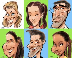 Caricaturiste numérique en direct pour événements. Caricature Drawing, Cartoon People, Live Events, Face Art, Cartoon Drawings, Disney Characters, Fictional Characters, Character Design, Doodles