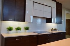 Want to add a basement kitchen? Get 13 helpful tips on how to get a functional and valuable basement kitchen design seamlessly. Kitchen Staging, Kitchen Decor, Kitchen Nook, Laminate Cabinets, Kitchen Cabinets, Kitchen Units, Kitchen Benchtops, Kitchen Shelves, Kitchen Backsplash