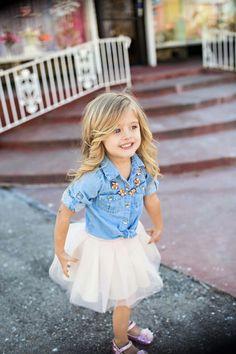 Fashion Kids Outfits Shirts 36 Ideas For 2019 Little Girl Outfits, Little Girl Fashion, Toddler Fashion, Toddler Outfits, Cute Little Girls, Toddler Cowgirl Outfit, Little Girl Style, Girls Fashion Kids, Newborn Fashion
