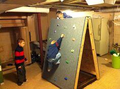 DIY Portable Kid's Climbing Wall