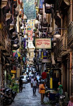 the streets of Napoli Places To Travel, Places To See, Travel Destinations, The Places Youll Go, Sorrento Italy, Sardinia Italy, Venice Italy, Rome, Best Of Italy