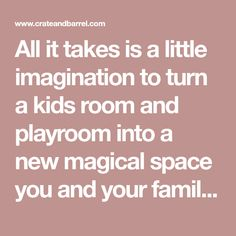All it takes is a little imagination to turn a kids room and playroom into a new magical space you and your family will love. View playroom design ideas.