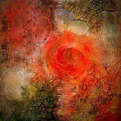 FlowerPower, schilderij van Ali Kleinhuis   Abstract   Modern   Kunst