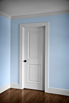 Youngsters Area Home Furnishings Interior Doors Photo Gallery Interior Door Trim, Interior Door Styles, Black Interior Doors, Baseboard Styles, Baseboard Trim, Baseboards, Door Frame Molding, Door Frames, Moulding