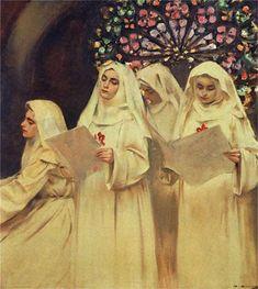The Athenaeum - Nuns' Choir (Ramon Casas y Carbó - )