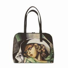 Ručne maľovaná kabelka 8573 inšpirovaná motívom Tamara de Lempicka