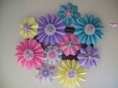 Flower pinwheels made by me