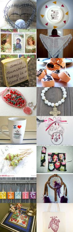 Hearts and Christmas Fun by Carol LaFond on Etsy--Pinned with TreasuryPin.com