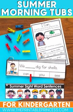 This resource includes 22 literacy and math activities with an adorable summer theme. The activities make the perfect kindergarten morning tubs.   The skills included in this resource are ones that your Kindergarteners are probably working on during the months of April and May. It is packed full of games and interactive, hands-on activities to keep students engaged and learning right until the end of the year!   The activities also would be great for summer school learning and review.