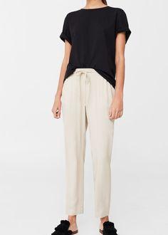 Flowy trousers -  Women | MANGO USA