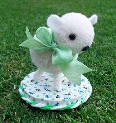 The Easter Pom Pom Lamb by teresatudor