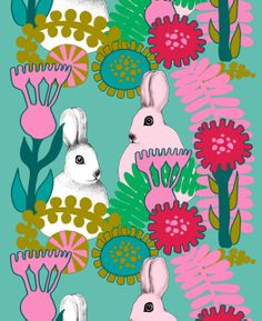 The charming Puput Piilosilla fabric in turquoise-pink comes from Marimekko and is designed by Teresa Moorhouse. Puput Piilosilla means Finland Textiles, Textile Patterns, Textile Design, Marimekko Dress, Marimekko Fabric, Pink Turquoise, Pattern Paper, Printing On Fabric, Iphone Wallpaper