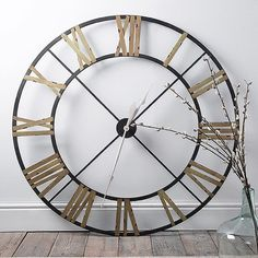 Time to change your #clock? Spring forward with beautiful timepieces like our New Ironwork Cut Out Clock; an impressive 122cm in diameter, it's perfect for making a statement on your wall. #clocks #springforward #ironwork