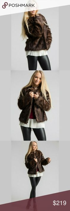RARE DARK BROWN VEGAN FUR COAT Coming Soon Order now by clicking bundle and get free shipping for the wait⚘ SHOP WITH CONFIDENCE ⭐A seller you can trust⭐   ❣BRAND NEW ❣EXELLENT CONDITION BOUTIQUE ITEM ❣Faux Fur Coat ❣80%Acrylic 20%polyester  ❣Dark brown ❣AVAILABLE SIZES: Sm, Med, Lrg     Shine bright And Wear What You Love, You Don't Need A Reason - FirstClassBTQ Jackets & Coats